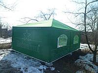 Шатер 4х4 метра торговый, палатка для кафе, садовая, уличная, пивная, тент замена