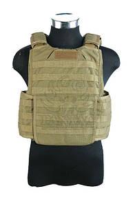 Оригинал Бронежилет тактический молле чехол Shark Gear RBV Molle Vest 90002959 (RBAV) Medium, Хакі (Khaki)