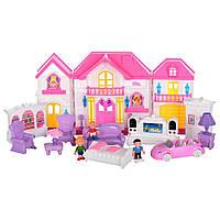 Игрушечный домик WD-922A-B-E Мой милый домик с мебелью фигурками световымии звуковымиэффектами