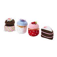 Кексы игрушечные IKEA DUKTIG 4 шт Разноцветные (703.807.75)
