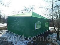 Шатер 4х4 метра торговый, палатка для кафе, садовая, уличная, пивная, тент замена, фото 4