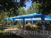 Шатер 4х4 метра торговый, палатка для кафе, садовая, уличная, пивная, тент замена, фото 7