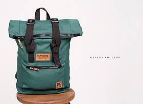 Рюкзак «Mavens Rolltop» для ручной клади Wizz Air (40х30х20) | Ryanair (40х20х25) Цвет зеленый