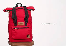 Рюкзак «Mavens Rolltop» для ручной клади Wizz Air (40х30х20) | Ryanair (40х20х25) Цвет красный