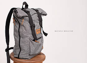 Рюкзак «Mavens Rolltop» для ручной клади Wizz Air (40х30х20) | Ryanair (40х20х25) Цвет серый