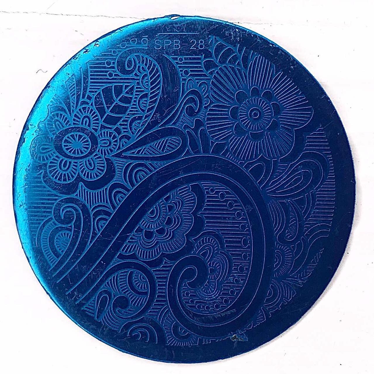 Пластина для стемпинга (круглая) SPB 28