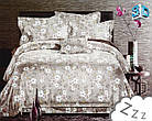 Комплект постельного белья Микроволокно HXDD-707 M&M 5843 Бежевый, Белый, фото 2