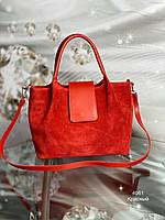 Стильная большая сумка тоут красная, фото 1