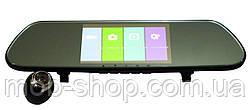 """Автомобільний реєстратор-дзеркало DVR V9TP Full HD 5"""" сенсорний екран + камера заднього виду"""