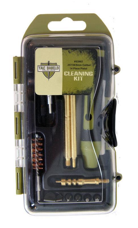 Оригинал Набор для чистки пистолета Tac Shield 0396 14 Piece Pistol Cleaning Kit .357/.38/9мм