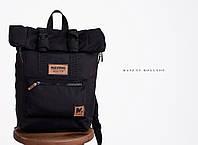 Рюкзак «Mavens Rolltop» для ручной клади Wizz Air (40х30х20) | Ryanair (40х20х25) Цвет черный
