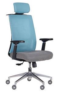 Кресло Self светло-голубой/серый