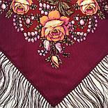 Звездочка моя 1808-15, павлопосадский платок шерстяной  с шелковой бахромой, фото 5