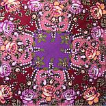 Звездочка моя 1808-15, павлопосадский платок шерстяной  с шелковой бахромой, фото 6