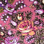 Звездочка моя 1808-15, павлопосадский платок шерстяной  с шелковой бахромой, фото 7