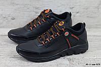 Мужские кожаные кроссовки Merrell (Реплика) (Код: М-1 чер 9/2  )  ► Размеры в наличии ► [40,41,42,43,44,45], фото 1