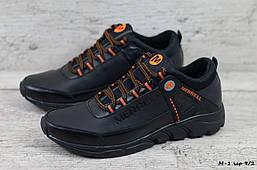 Мужские кожаные кроссовки Merrell (Реплика) (Код: М-1 чер 9/2  ) ►Размеры [40,41,42,43,44,45]
