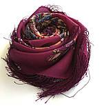 Звездочка моя 1808-15, павлопосадский платок шерстяной  с шелковой бахромой, фото 8