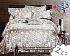 Комплект постельного белья Микроволокно HXDD-707 M&M 5904 Бежевый, Белый, фото 2