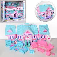 Домик для кукол 118 с фигуркамимебельюсветовымии звуковымиэффектами складывается в сумочку на колесах