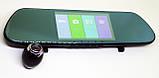 """Дзеркало відеореєстратор DVR V9TP Full HD 5"""" реєстратор з сенсорним екраном і камерою заднього виду, фото 2"""
