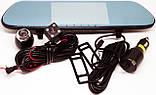 """Дзеркало відеореєстратор DVR V9TP Full HD 5"""" реєстратор з сенсорним екраном і камерою заднього виду, фото 7"""