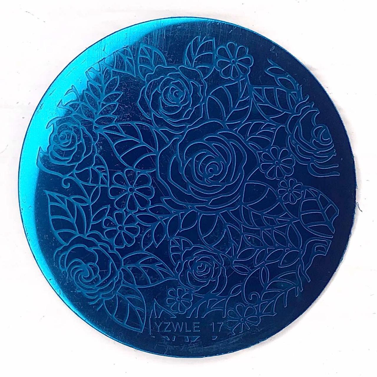 Пластина для стемпинга (круглая) YZWLE 17