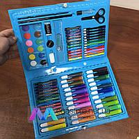 Детский набор юного художника для рисования и творчества 86 предметов Mikki Mays в подарочном чемоданчике
