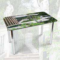 Виниловая наклейка на стол Каменная лестница в Саду декоративная пленка самоклеющаяся, серый 600*1000 мм