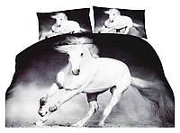 Комплект постельного белья Микроволокно HXDD-726 M&M 6093 Белый, Серый
