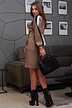 Повседневное платье прямое в спортивном стиле (4 расцветки, р.M-XXL), фото 10