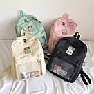 Однотонный рюкзак со съемными липучками-картинками для подростков девочек., фото 8