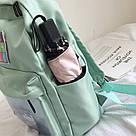 Однотонный рюкзак со съемными липучками-картинками для подростков девочек., фото 9