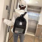 Однотонный рюкзак со съемными липучками-картинками для подростков девочек., фото 3