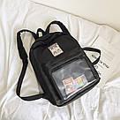 Однотонный рюкзак со съемными липучками-картинками для подростков девочек., фото 6