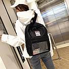 Однотонный рюкзак со съемными липучками-картинками для подростков девочек., фото 5