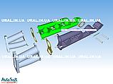 Колектор випускний лівий турбо 7403.1008021 (пр-во КАМАЗ), фото 2
