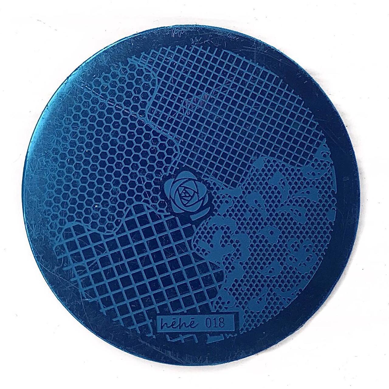 Пластина для стемпинга (круглая) hehe 018