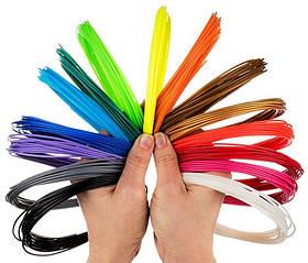 Набор PLA-пластика для 3D ручки (12 цветов по 10 метров)120 метров, не токсичный