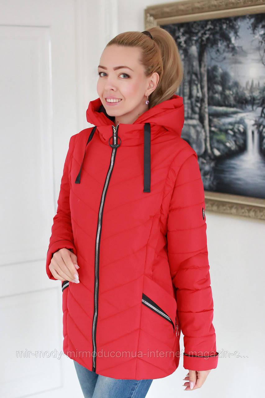 Куртка батальная женская весна трансформер в жилет  c 52 по 58 размер (modnyst)