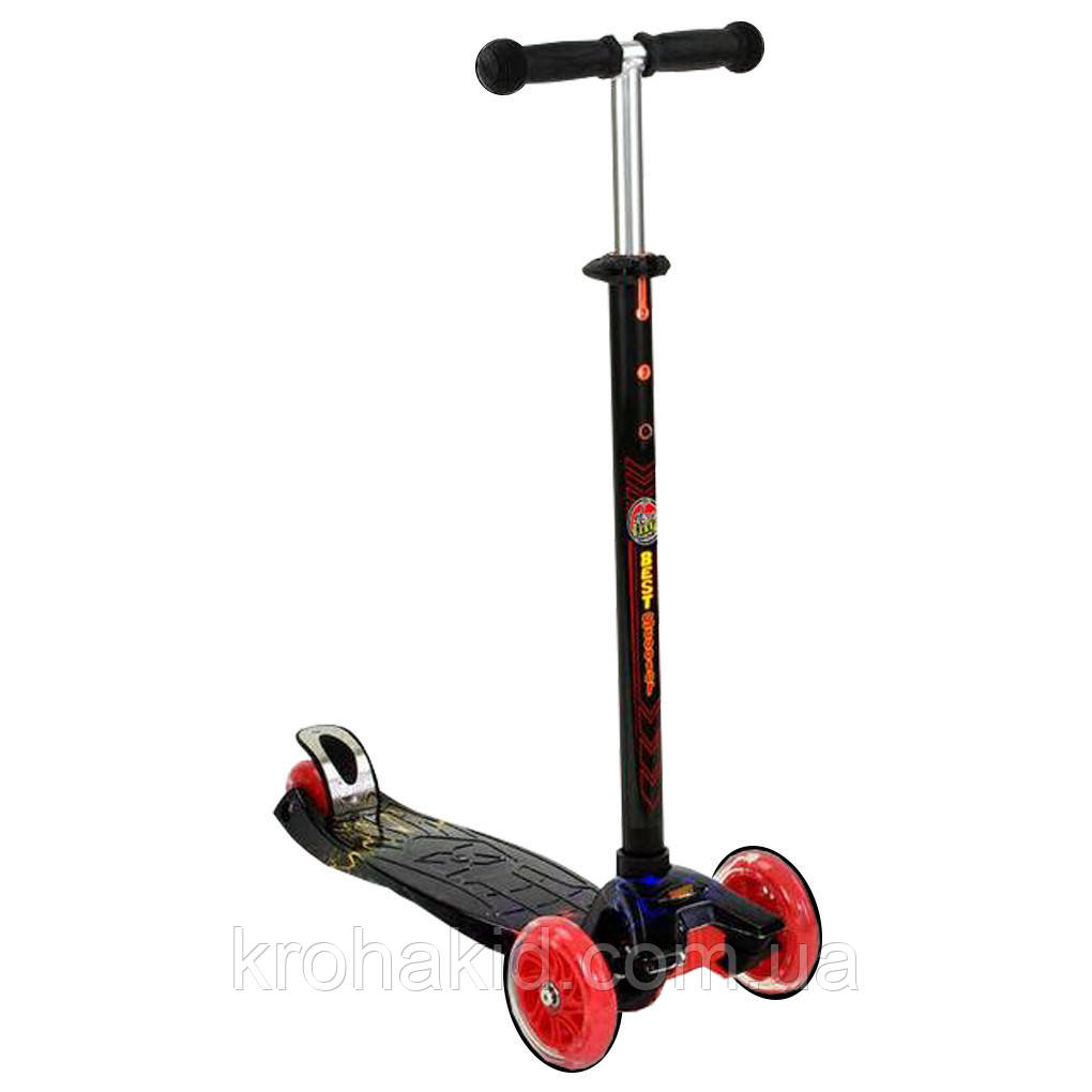 "Самокат А 24659 /779-1308 MAXI ""Best Scooter""  4 колеса PU. СВЕТ, d=12см"