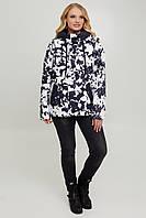 Женская куртка демисезонная на силиконе с капюшоном большого размера 50-60 р бежевый, белый,