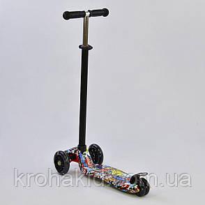 """Самокат-кикборд A 25460/779-1315 MAXI """"Best Scooter""""  4 колеса PU. СВЕТ, d=12см, фото 2"""