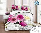 Комплект постельного белья Микроволокно HXDD-785 M&M 6338 Розовый, Серый, фото 2
