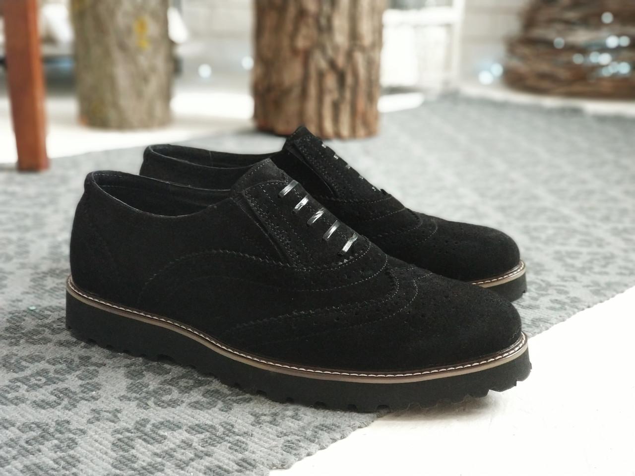 Мужские черные Туфли Броги Webster