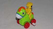 """Заводна іграшка """"Тварини"""" 6622 хлопчик на коні"""