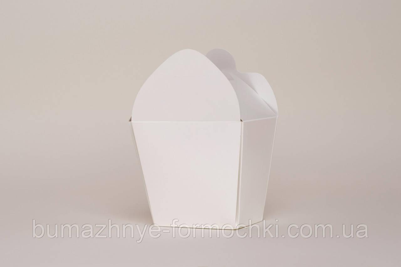 Коробка для лапши, белая, 500 мл