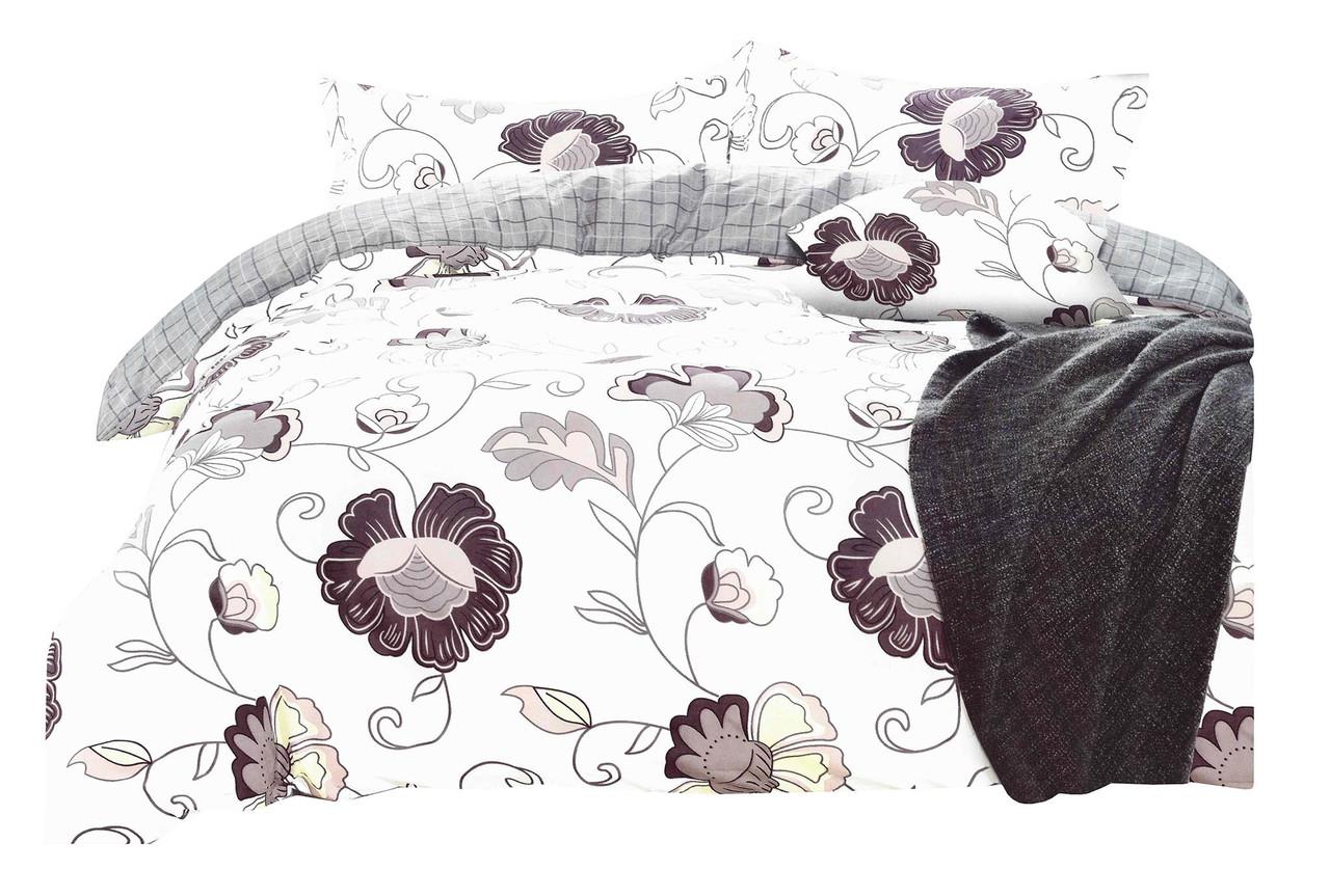 Комплект постельного белья Микроволокно HXDD-804 M&M 6352 Белый, Кремовый