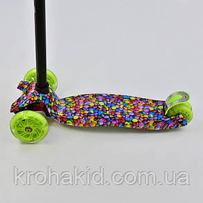 """Самокат-кикборд А 25461 /7791316 MAXI """"Best Scooter""""  4 колеса PU. СВЕТ, d=12см, фото 2"""