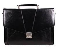 Мужской портфель кожаный H&Y черный